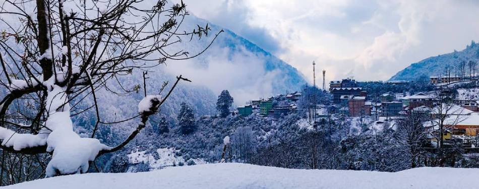 Snowfall in Sikkim