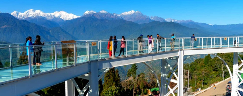 India's first Skywalk in Pelling, West Sikkim